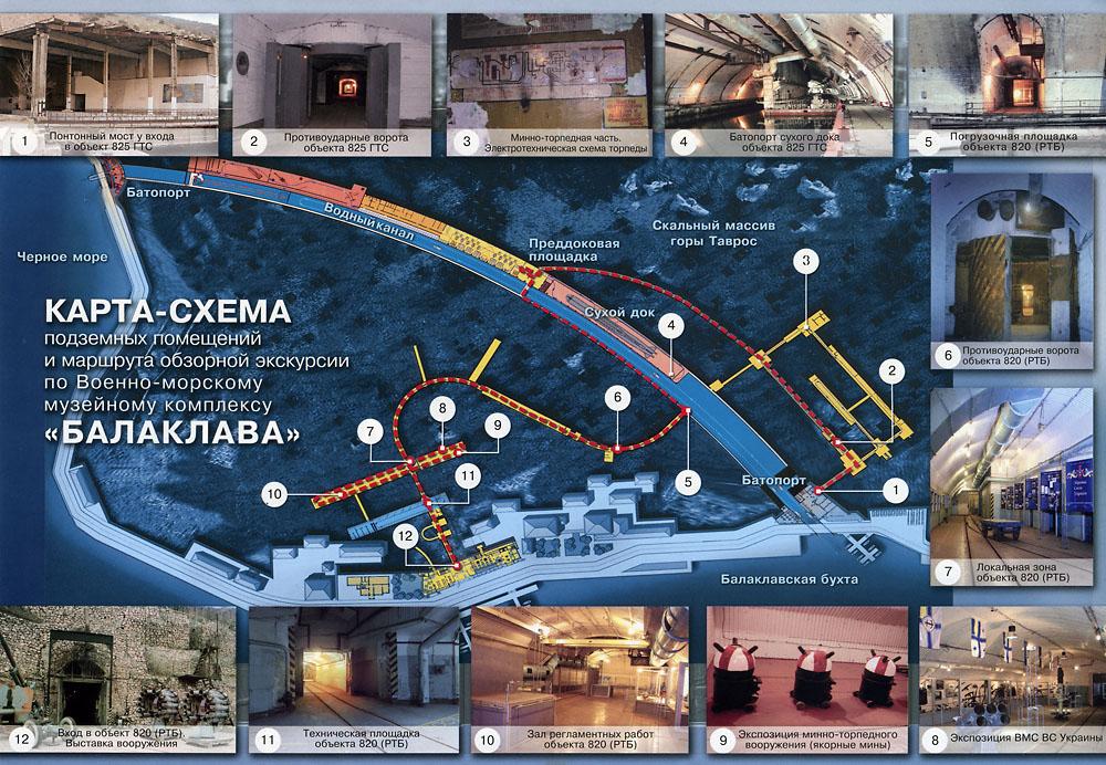 Карта-схема музея подводных