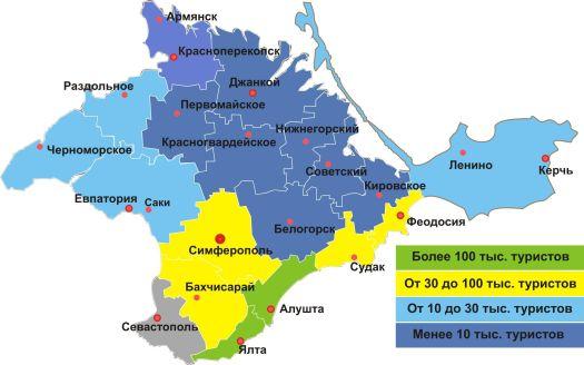 Алушта и алуштинский регион на карте Крыма