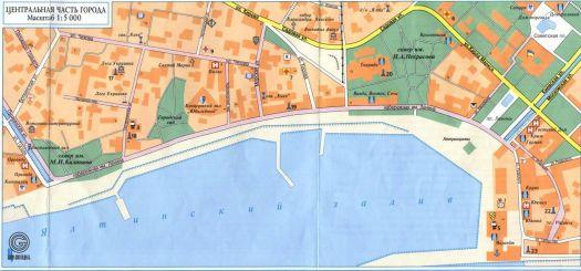 Карта Ялтинской набережной