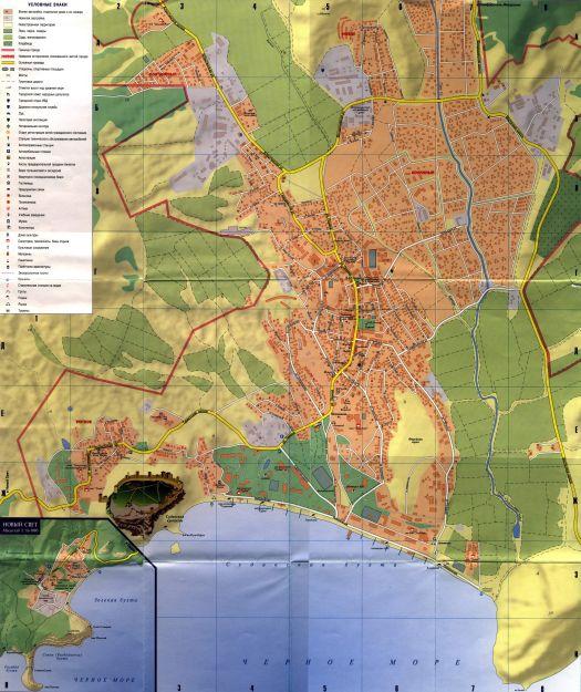 Детальная карта города и прилегающих к нему окрестностей