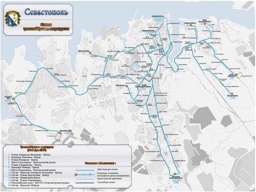 Схема движения севастопольских маршрутов