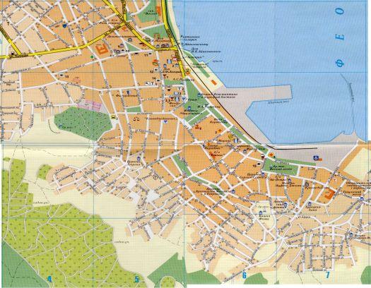 Подробная карта Феодосии
