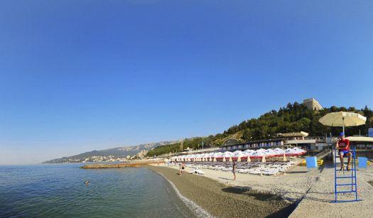 Пляж при отеле ''Интурист'' - cамый лучший ялтинский пляж, расположенный в пределах города