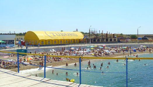 Пляж Парк Победы имеет весьма развитую развлекательную инфраструктуру