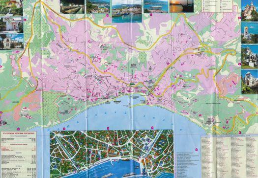 Большая туристическая карта Ялты