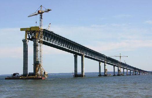 Строительство моста в Крым продолжается!