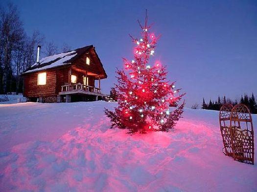 Есть возможность встретить новый год в горах в одной из уютных деревянных избушек